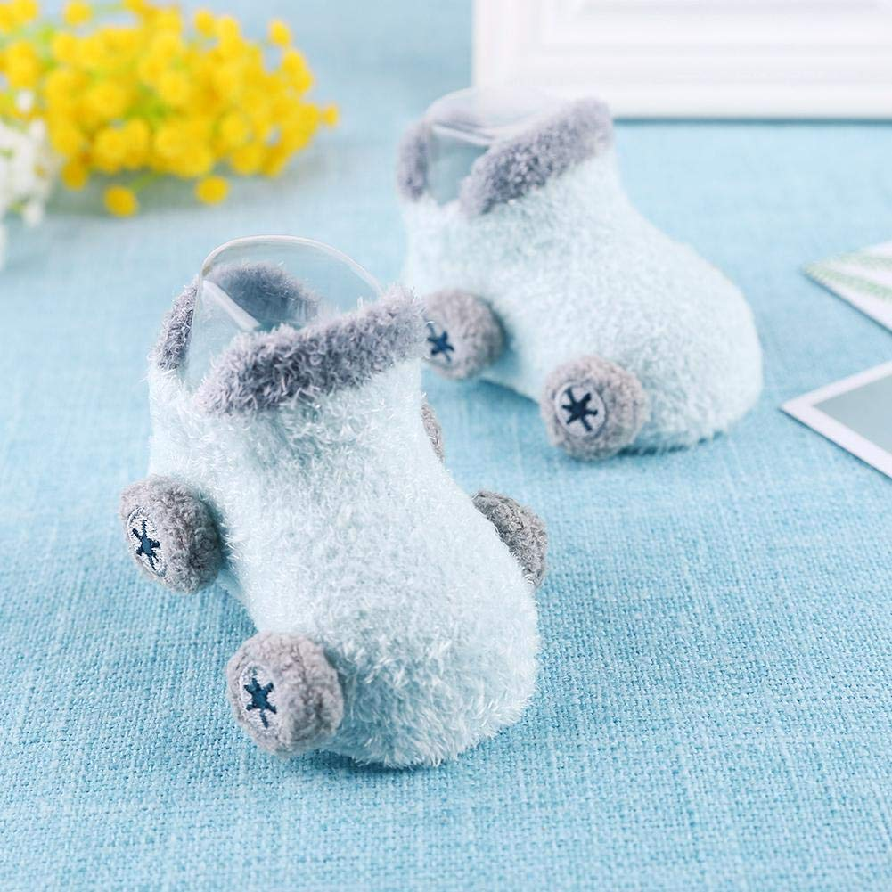 Cartoon Car Feather Yarn Anti-slip Socks Thicken Floor Socks for 0-24M Baby Domybest Baby Socks