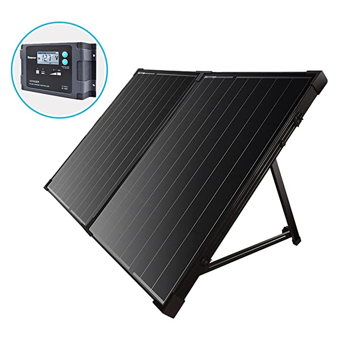 Renogy 100 Watt 12 Volt Monocrystalline Off Grid Portable Foldable 2Pcs 50W Solar Panel Suitcase Built-in Kickstand with Waterproof 20A Charger Controller best home solar panels