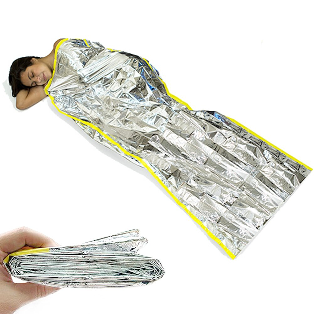 First Aid Blanket Emergency Foil Camping Blanket Hiking First Aid Large Size Silver 1PCS