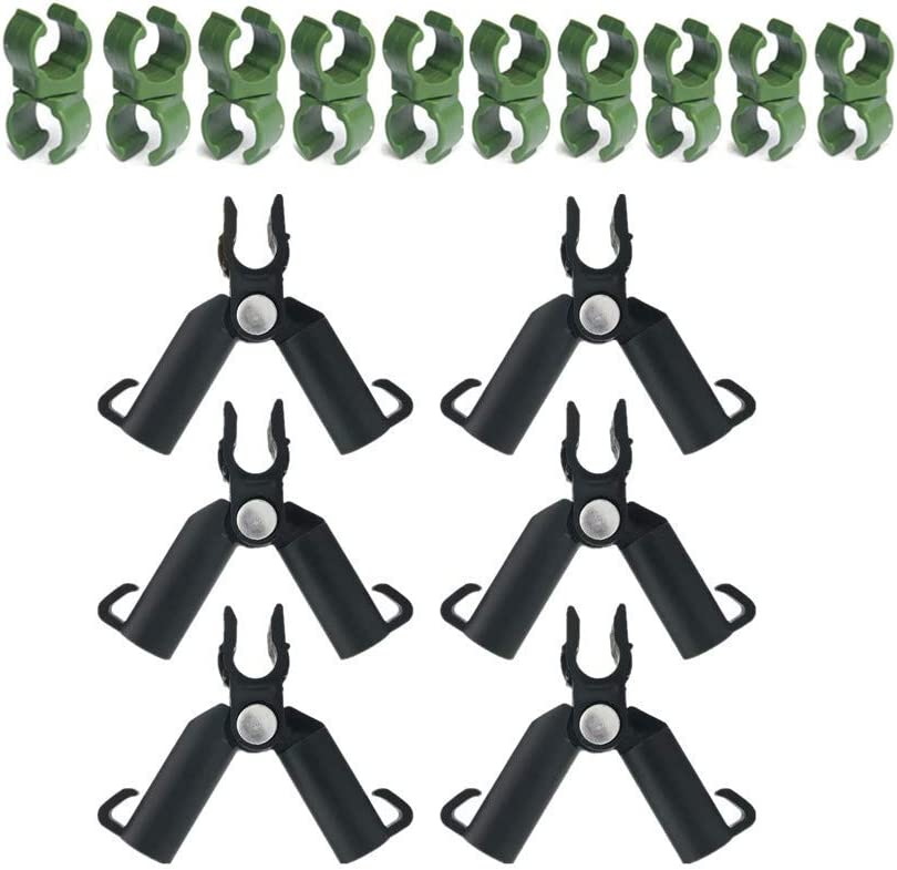 10 Pcs Plant Trellis Connector Clip,Universal buckle, 6 Pack Adjustable Plant Plastic Connector for Plant Stakes 0-70 Degrees Connecting Tubes 11mm,Adjustable Climbing Frame,Plant Cage Supports