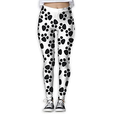 Amazon.com  Heart Dog Paw Print Women s Yoga Pants Print Sports Gym Workout  Athletic Leggings Pants  Clothing 2e2314b44d2c0