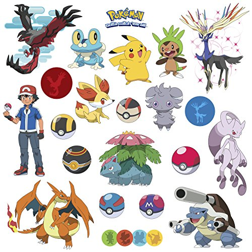 Nursery Decor Popular Characters Pokemon Xy Peel And Stick Wall Decal