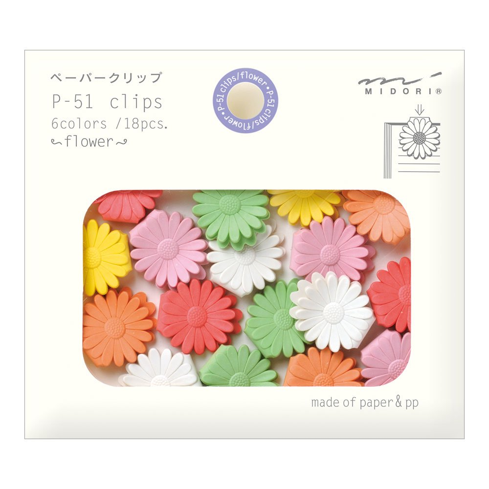 Midori Paper Clips, Flower, 18 Pieces (43317006) NaSh-Design