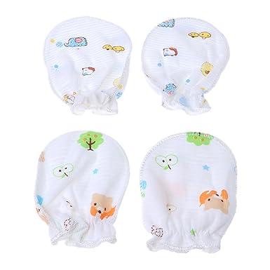 435494ca3 OTGO 2 Pairs Newborn Infant Baby Boys or Girls Soft Cotton Handguard ...