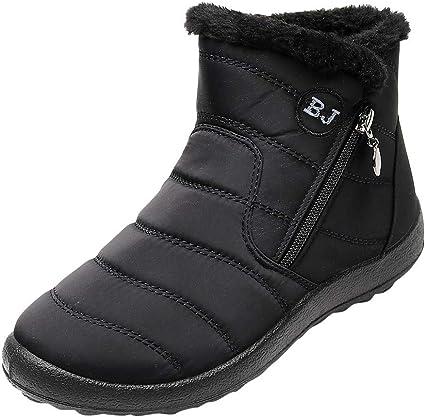 Nylon Snow Ankle Short Boots Zipper