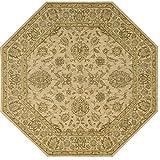 Nourison Parthia (PT08) Sand Octagon Area Rug, 8-Feet by 8-Feet  (8' x 8')