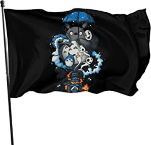 Yhdsaihvnbs Studio Ghibli 3x5 Ft Flag - Vivid Color and Fade Resistant with Grommets Banner Breeze Flag, for Home House Outdoor Garden Yard Decorations