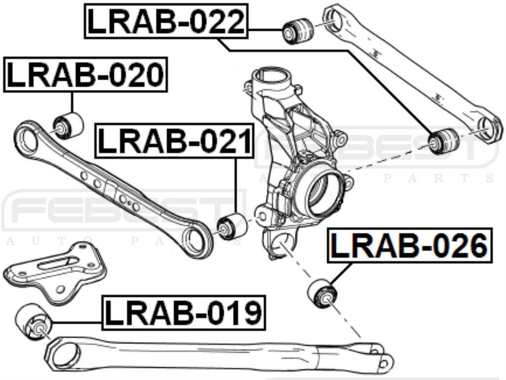 FEBEST LRAB-021 Arm Bushing for Rear Arm