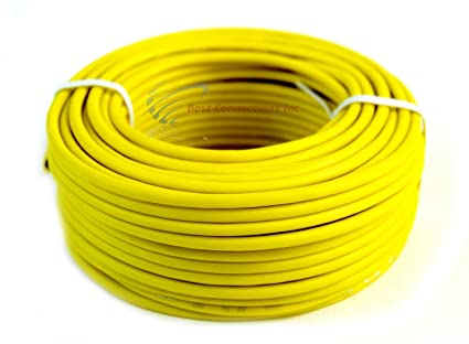 Audiopipe Yellow 500 Feet 14 Gauge AWG Car Primary Power Cable Remote Wire Lead