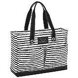 SCOUT Uptown Girl Medium Multi-Pocket Tote Bag, Water Resistant, Zips Closed, Chalk Back