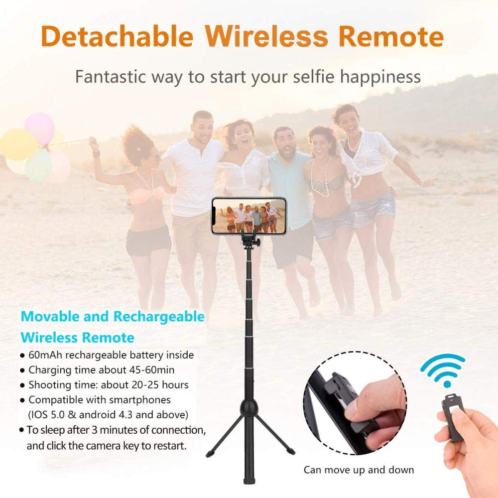Samsung Galaxy Bluetooth Selfie Stick 3 in 1 Stativ Selfie Stick St/änder mit ausziehbarer Funkfernbedienung Selfie Stick f/ür iPhone Huawei Phones.