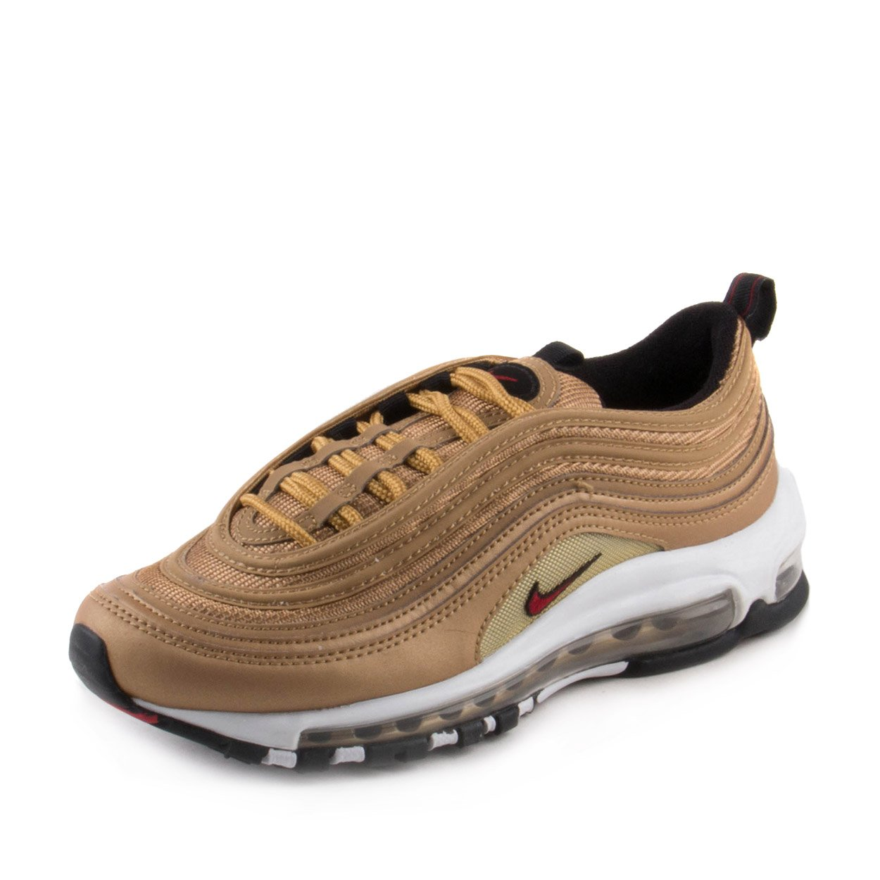 official photos fcef1 c5627 Nike Womens Air Max 97 Og QS Running Trainers 885691 Sneakers Shoes (UK 3.5  US 6 EU 36.5, Metallic Gold Varisty red 700)