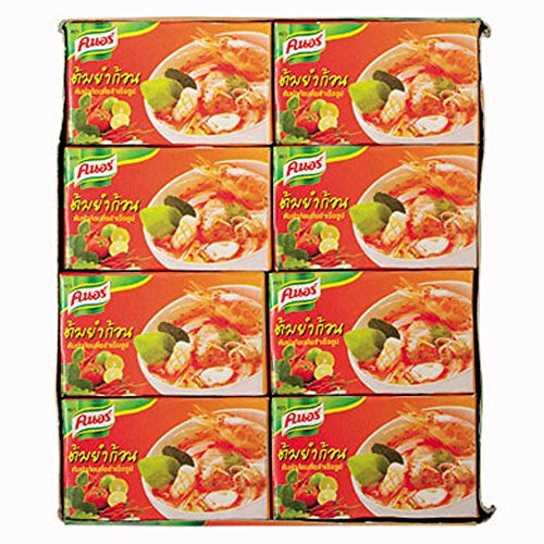 Knorr Tom Yum Seasoning Bouillon Cubes 24g, (Pack of 24) (Soup Cubes)