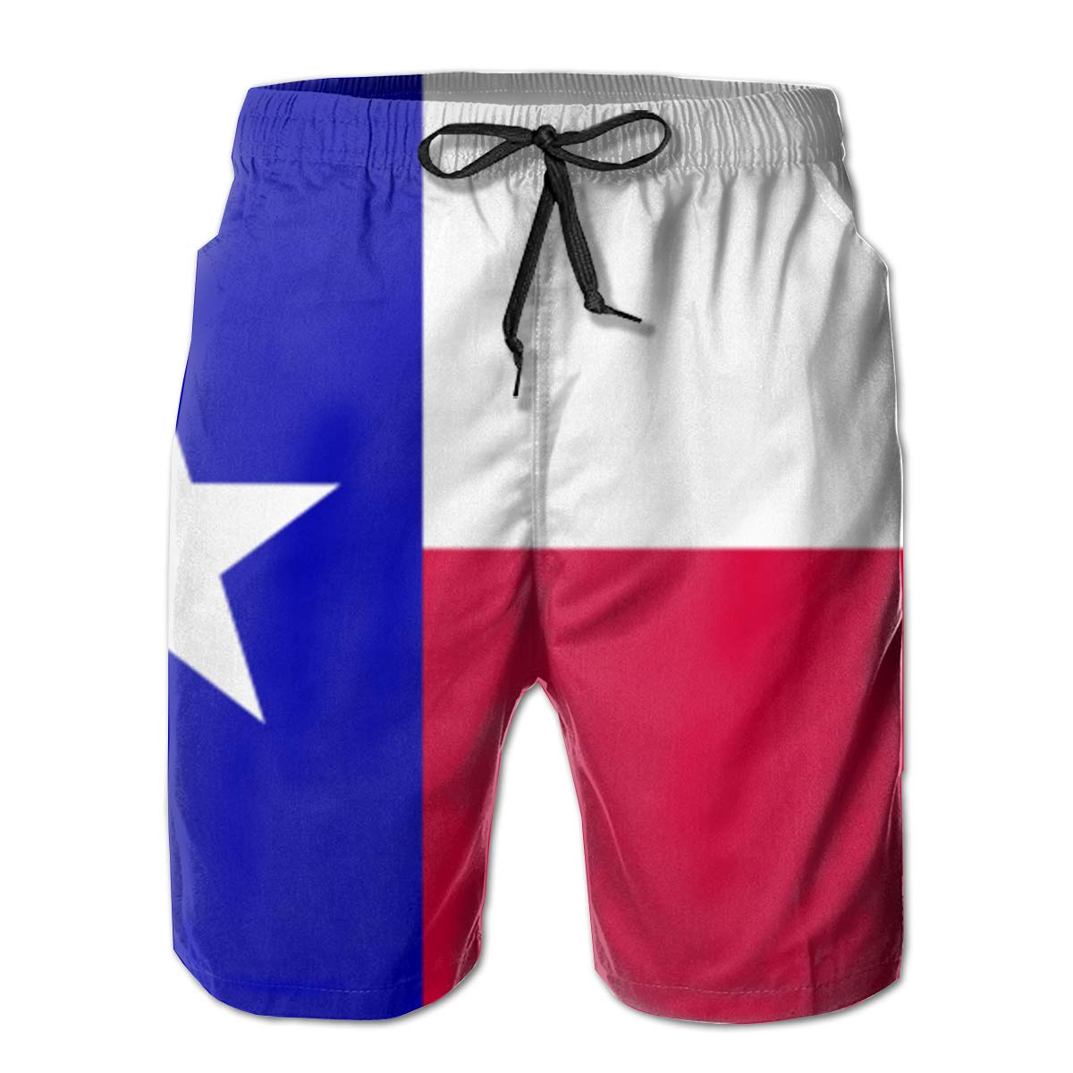 TR2YU7YT State of Texas Flag Casual Mens Swim Trunks Quick Dry Printed Beach Shorts Summer Boardshorts Bathing Suits with Mesh Lining