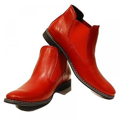 PeppeShoes Modello Rosso Handgemachtes Italienisch Bunte