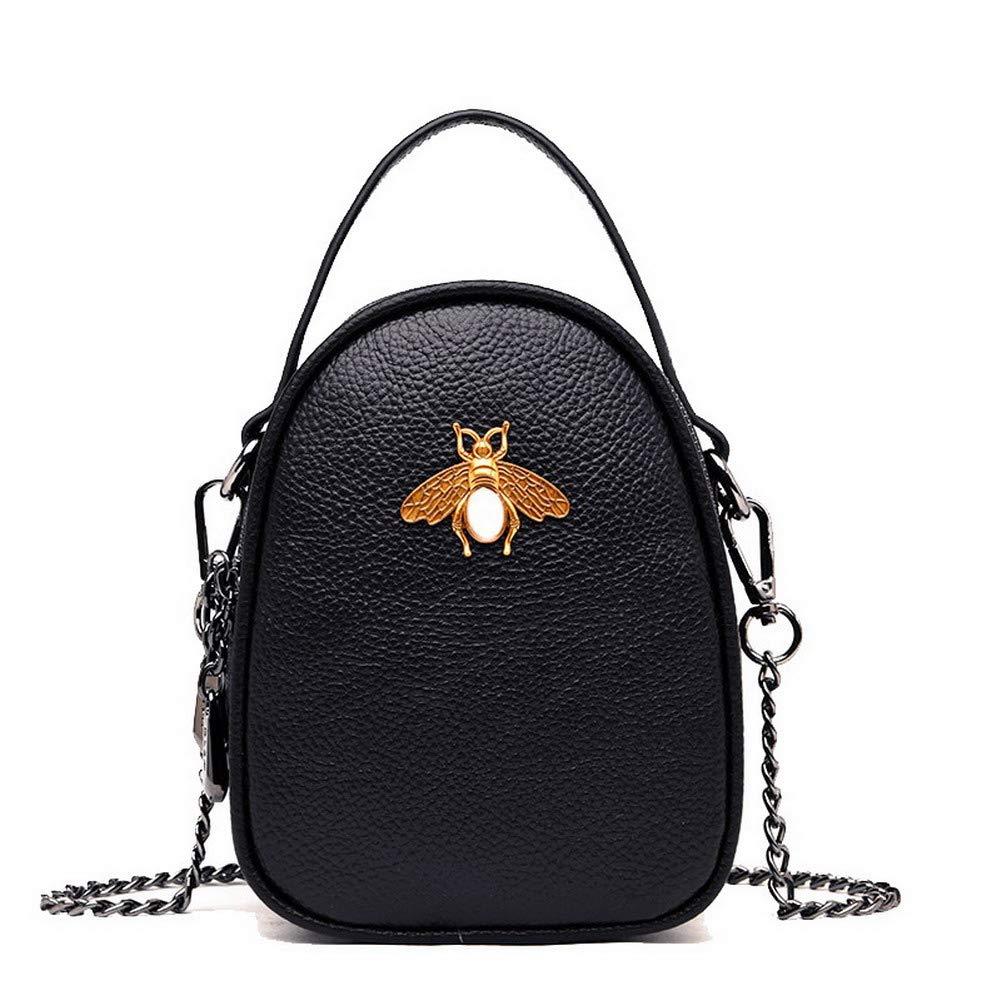 Black WeiPoot Women's Fashion Tote Bags Pu Ornamented Crossbody Bags,EGHBG182544
