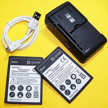 Amazon.com: 2 x 2400 mAh Li _ Ion batería externa universal ...