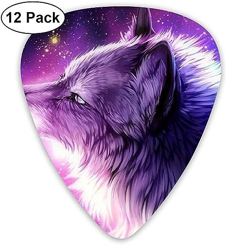 Sherly Yard 12 Pack Púas de guitarra Púrpura Anime Galaxy Wolf Diseño para bajo de guitarra Diferente Delgado 0.46 mm 0.71 mm 0.96 mm: Amazon.es: Instrumentos musicales