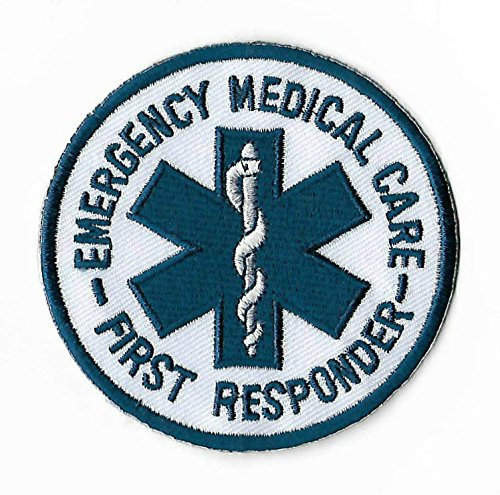 [Emergency Medical Care First Responder Patch Embroidered Iron on Badge / 3 Inch DIY Applique CPR AED First] (First Responders Costumes)