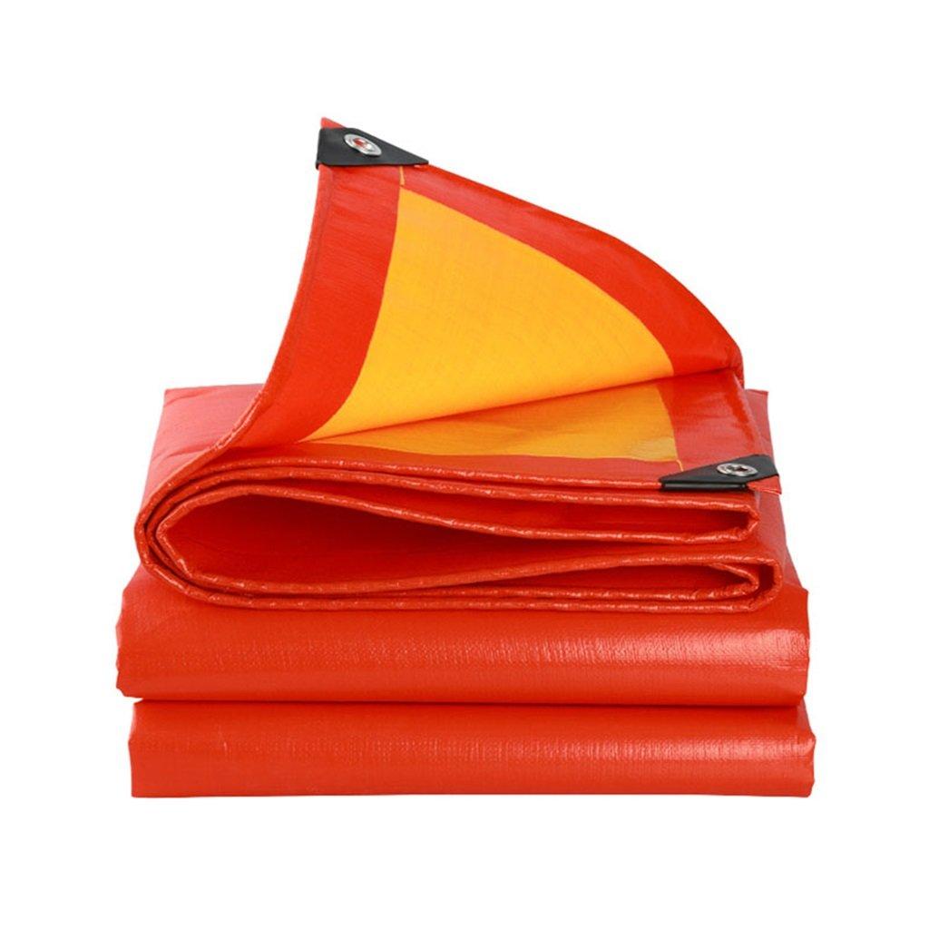 Zelte Outdoor Plane Wasserdichte Tuch Sonnencreme Plane Ultraleicht Dreirad Wasserdichte Plane Plane, rot + Orange, Dicke 0,38 mm, 210 g   m2, 18 Größenoptionen