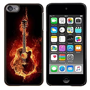 """For Apple iPod Touch 6 6th Touch6 , S-type Guitarra Fuego"""" - Arte & diseño plástico duro Fundas Cover Cubre Hard Case Cover"""