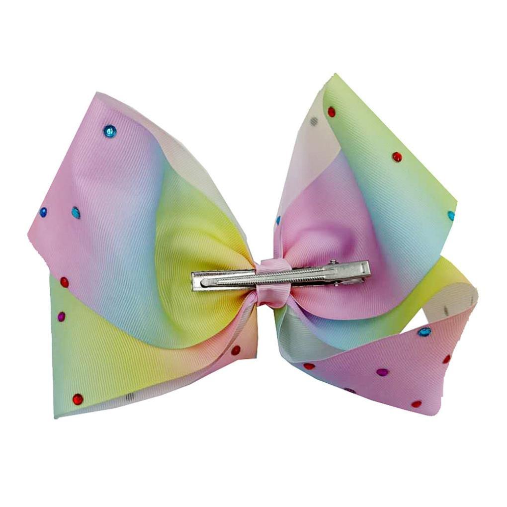 Bowknot Haarnadel Upxiang M/ädchen Candy Farbe Haarspangen Haarschnalle Kopfschmuck Blau//20cm