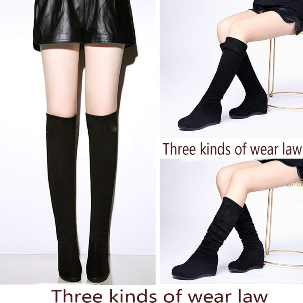 QQWE Damen Overknee Stiefel Damen Kniehohe Keil Stretch Lange Stiefel Damen Damen Stiefel Stiefel a9bb53