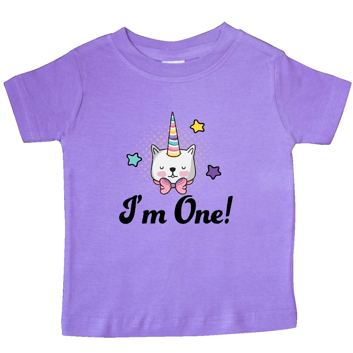 inktastic First Birthday Unicorn Cat 1 Year Old Baby T-Shirt