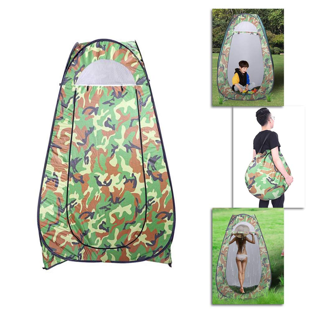 SSLine Portable Outdoor Shower Tent Pop-up Privacy Shelter Changing Room Instant Camp Beach Toilet Dressing Tent Foldable with Carry Bag by SSLine