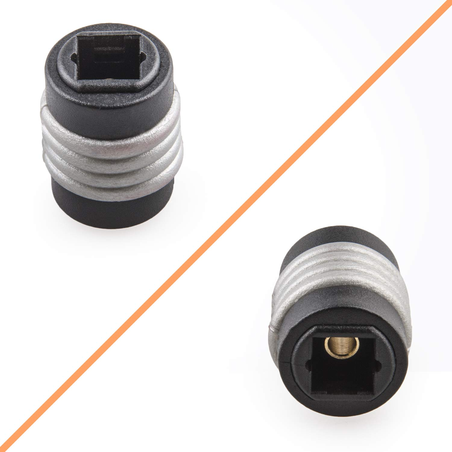 3 Feet-with Female to Female Audio Extension Cable Coupler Connector Adapter Digital Optical Extension GTOTd Digital Optical Audio Toslink Sound Bar TV Cable