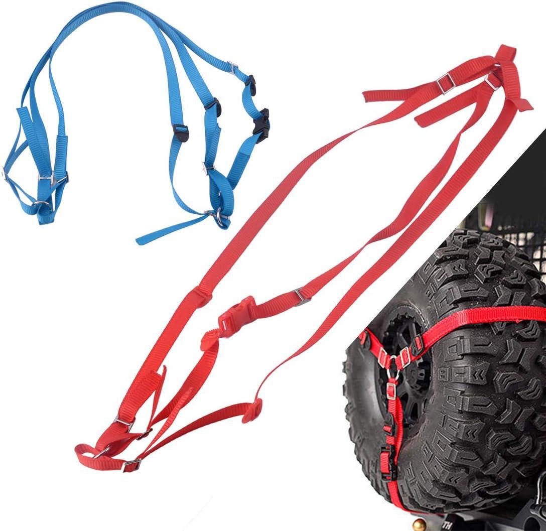 RC 1//10 Scale 3 POINT TIRE Strap Tie Down Harness STRAPS BLACK