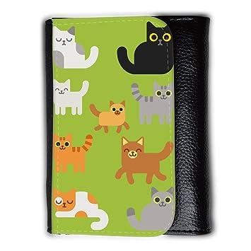 Cartera para hombre // Q05010603 Gatos dibujos Android Verde // Medium Size Wallet: Amazon.es: Electrónica
