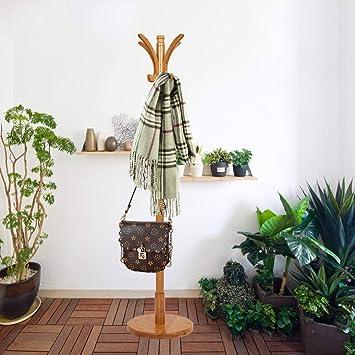 Amazon.com: livebest perchero de bambú con 2 niveles 11 ...