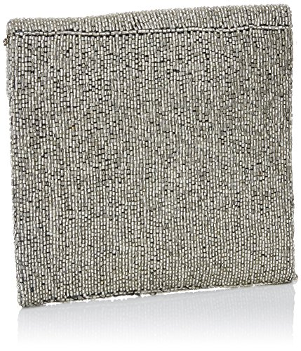 LOLA CASADEMUNT Lorenza, Bolso Baguette para Mujer, 3x22x25 cm (W x H x L) Plateado (Silver)
