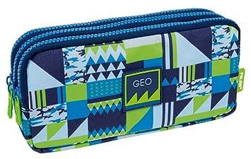 Portatodo Triple Milan New Geo Blue: Amazon.es: Oficina y ...