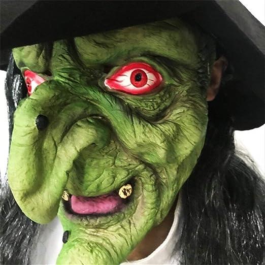7°MR Mascara Purga Disfraz Máscara de Pelo Largo Mueca Máscara de ...