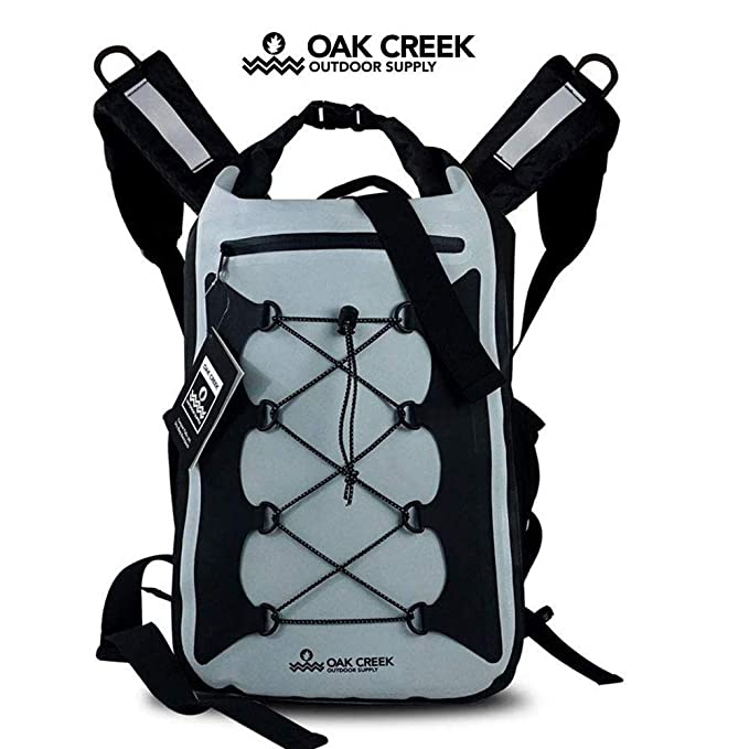 Oak Creek Outdoor Supply Canyon Falls 30L Dry Bag Backpack | Premium Waterproof Backpack with Padded Shoulder Straps | PVC Construction | Keep Your Gear Dry