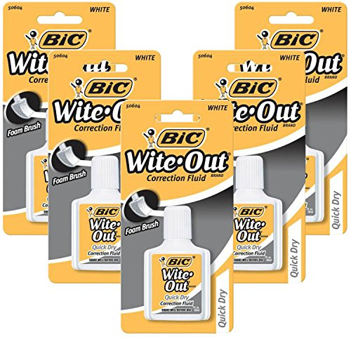 Super Smooth Correction Fluid (Bic White-Out Quick Dry Correction Fluid 5 pcs sku# 1849481MA)
