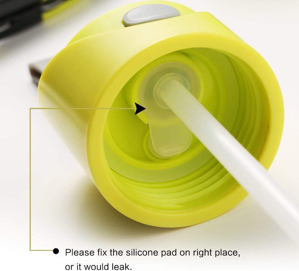 DXDRT Borraccia Sportiva per Bambini, Borraccia per Bambini in Paglia BPA per Donna, 650ML (Color : Yellow) Yellow
