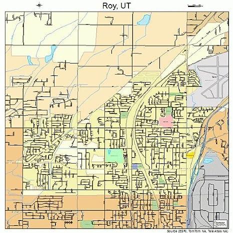 Amazoncom Large Street Road Map Of Roy Utah Ut Printed Poster