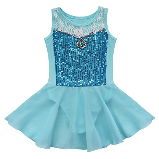 d14b63b4f Amazon.com  TiaoBug Girls Sequins Ballet Dress Gymnastic Leotard ...