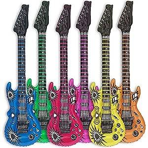 Globo de guitarra Goods & Gadgets, 6 uds., guitarras hinchables, 100 cm, multicolor