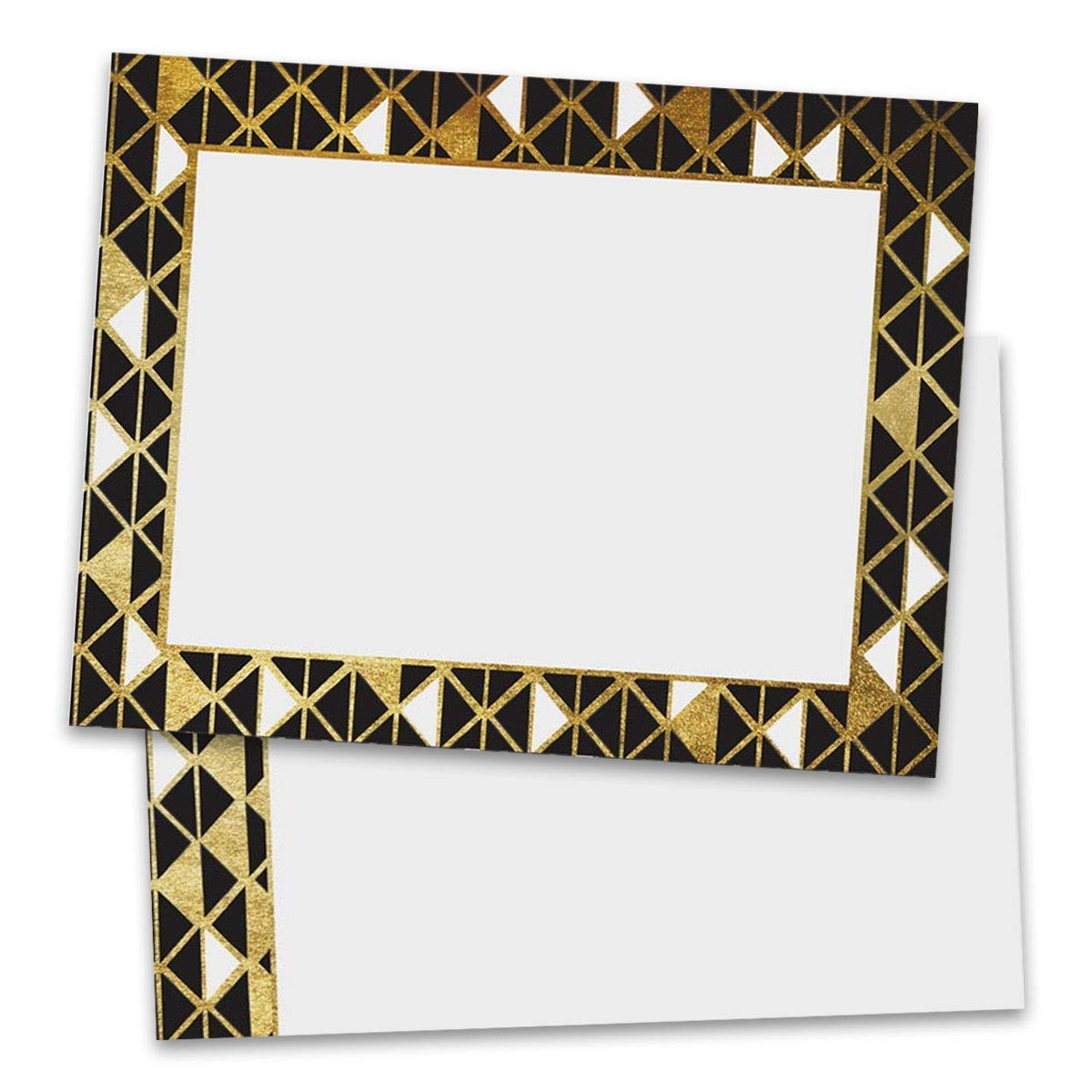 Black and Gold Art Deco Postcards, Standard Size, 100 Count by PaperDirect