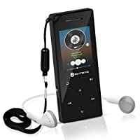 MP3 Player with Bluetooth 4.0, Slitinto 8G Portable Lossless Hi-Fi Sound MP3 Music Players with Touch Button/1.8TFT Screen, Built in Loud Speaker, FM Radio, Voice Recorder, Expandable up to 128 GB