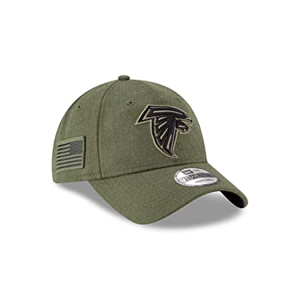 save off 0b0a1 f4b1e New Era Mens NFL 2018 Salute to Service 9Twenty Strapback Hat (Atlanta  Falcons)