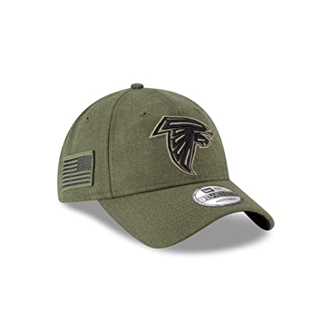 New Era Mens NFL 2018 Salute to Service 9Twenty Strapback Hat (Atlanta  Falcons) fc4d952d8