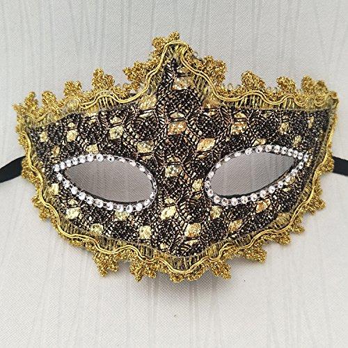 Damjic Halloween Masks Makeup Parties Party Masks Lace Ups Half Face Masks Masks N -