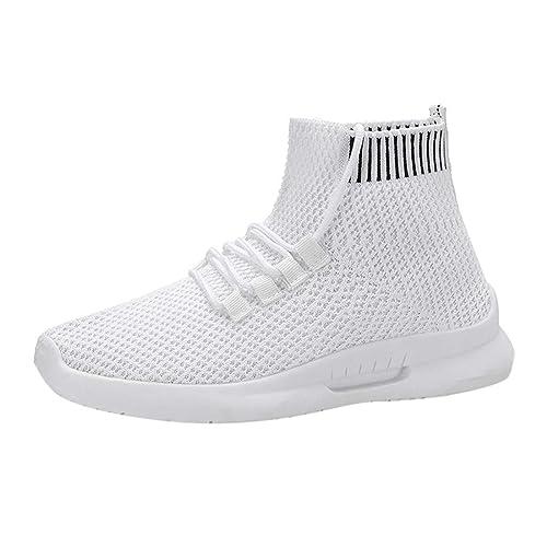 LHWY Zapatillas de Deporte de Malla de Moda para Mujer Calcetines elásticos Ocasionales Zapatos para Correr para Estudiantes: Amazon.es: Zapatos y ...