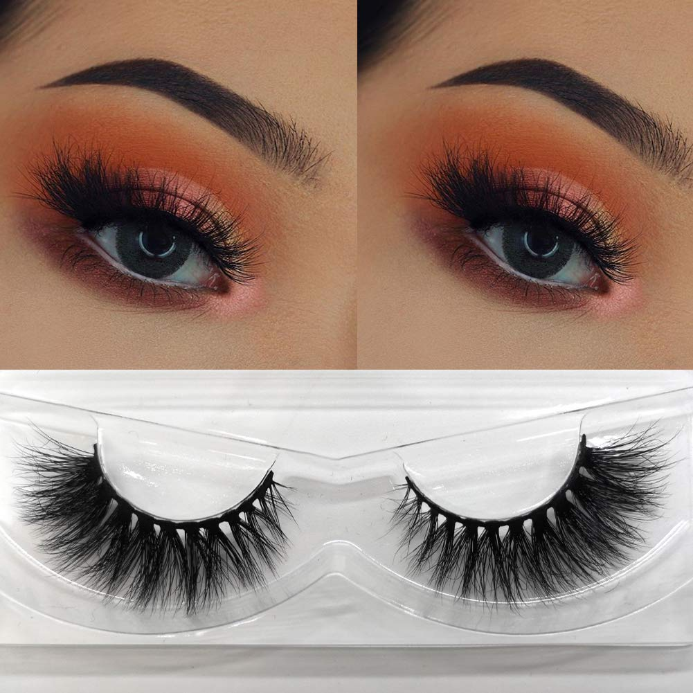 771fc51ce86 Amazon.com : Lotecoarts 3D Mink Lashes Strip Thick False Eyelashes Long  Handmade Fake Eyelashes for Women Makeup 1 Pair Package (3D-011) : Beauty