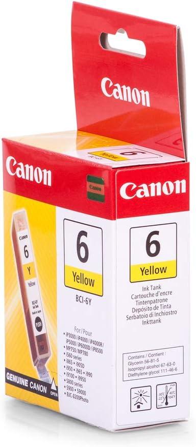 Canon Original 4708a002 Bci 6y Für Pixma Ip 8500 Elektronik